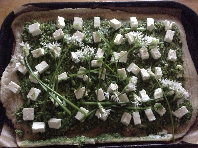 Wild Garlic Pesto and Feta Tarte