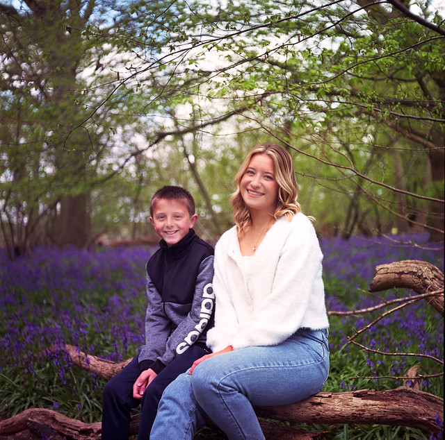 Cousins in bluebells