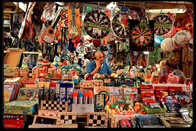 Tel Aviv / Carmel Market / HaCarmel Street / Toy merchant