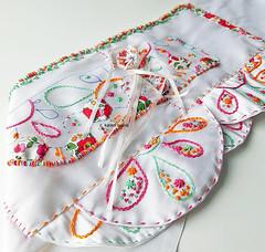 silk, a pocket, embroidery