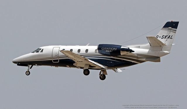G-SKAL LMML 03-05-2021 Private Cessna 560XL Citation XLS+ CN 560-6270