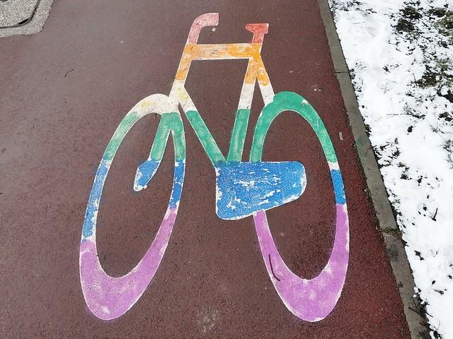 Tęczowy rower