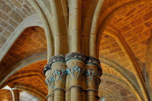Salle capitulaire XIIIe siècle, ancien monastère de Piedra, Nuévalos, communauté de Calatayud, province de Saragosse, Aragon, Espagne.