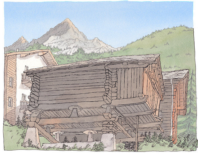 Switzerland, Valais, Les Hauderes