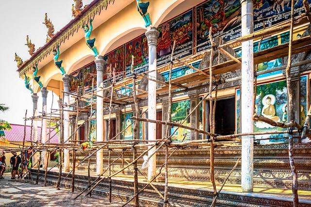 Wat Kampong Phluk Buddhist Temple  at  Kampong Phluk floating village, Cambodia.    065-Edit-Edita