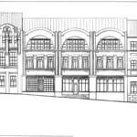 Грушевского Михаила улица, 4А - Эскиз фасада 002 PAPER800 [Вандюк Е.Ф.]