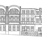 Грушевского Михаила улица, 4А - Эскиз фасада 001 PAPER800 [Вандюк Е.Ф.]