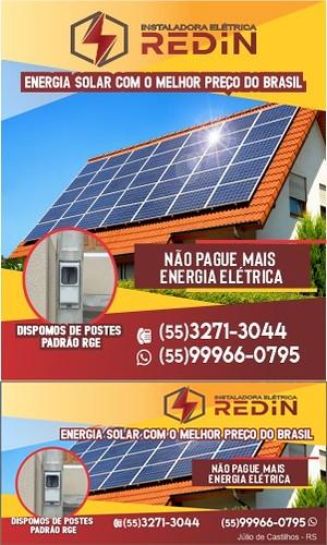 Não pague mais energia elétrica - Energia solar é com a Redin