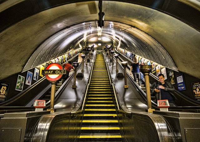 Swiss Cottage escalators