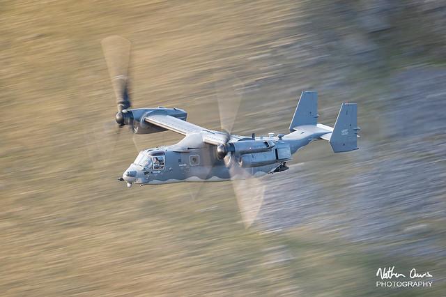 USAF Boeing CV-22B Osprey 10-0052 low level in Northern England