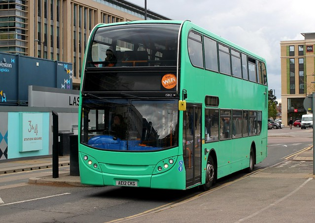 Stagecoach East , Cambus . 15812 AE12CKG . Cambridge Railway Station . Tuesday 04th-May-2021.