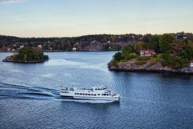 Fährüberfahrt Stockholm - Turku, Stockholmer Schärengarten