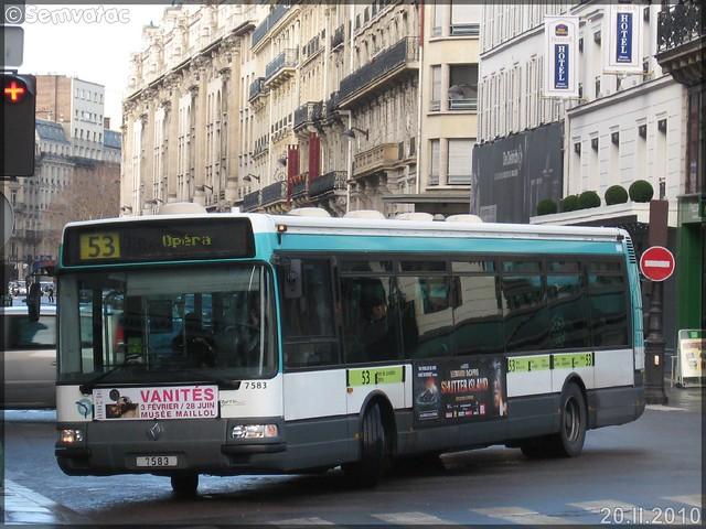 Renault Agora S – RATP (Régie Autonome des Transports Parisiens) / STIF (Syndicat des Transports d'Île-de-France) n°7583