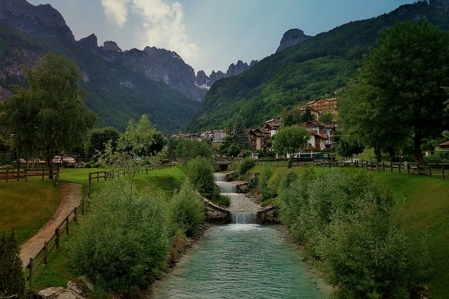 ITALIEN, Italy, Blick von Molveno Richtung brenta-Gebirge(Dol), 79041/13652