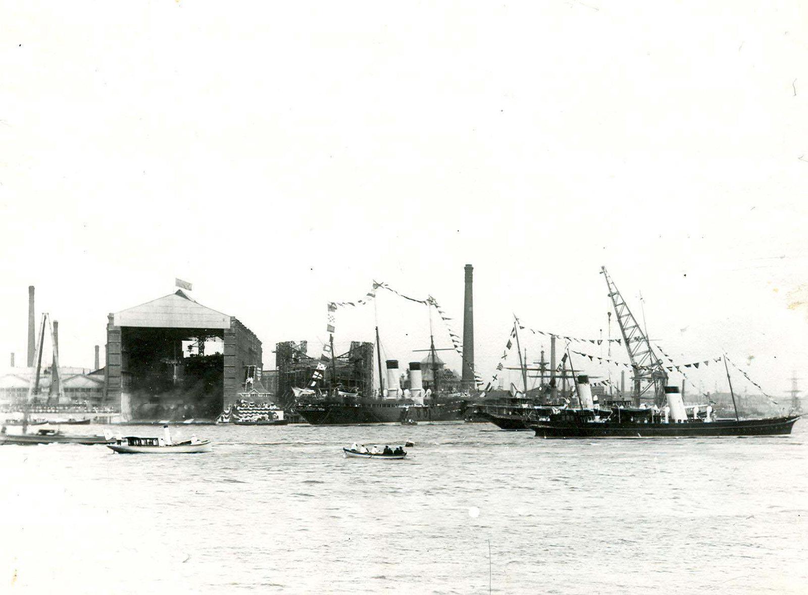 1911. Спуск на воду линейного корабля «Севастополь»