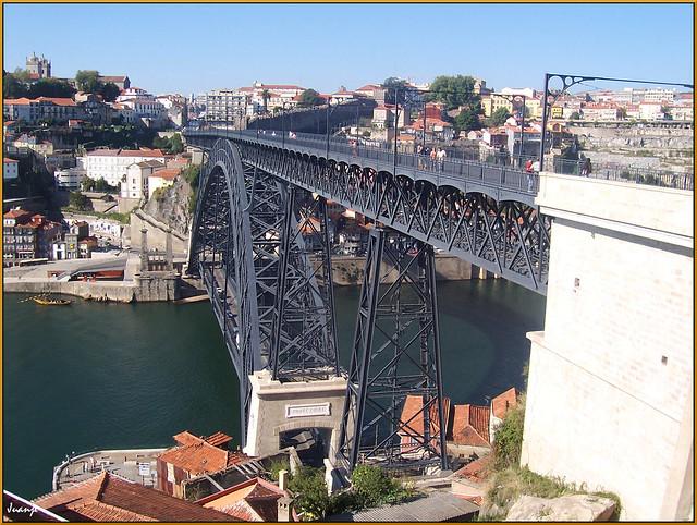 Puente de Don Luis I, aunque Théophile Seyrig tuvo algo que ver (Oporto, Portugal, 20-9-2006)