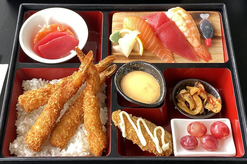 Bento box - panko prawns