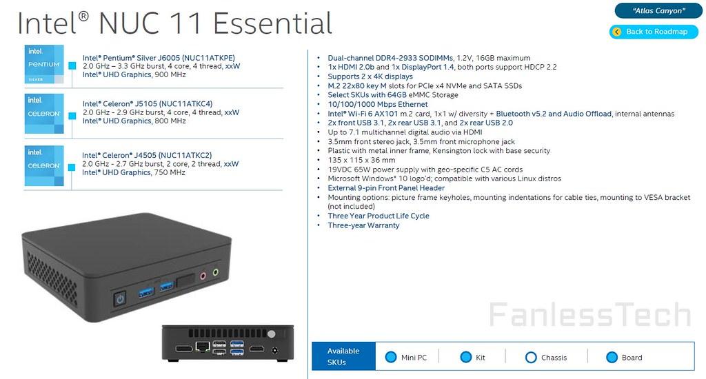 NUC 11 Essential