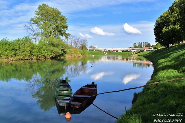Springtime afternoon on river Kupa - Karlovac, Croatia