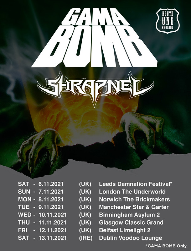 Gama Bomb Announce UK and Ireland Tour with Shrapnel