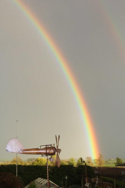 Evening Rainbow, Hillview, Seckington, UK.