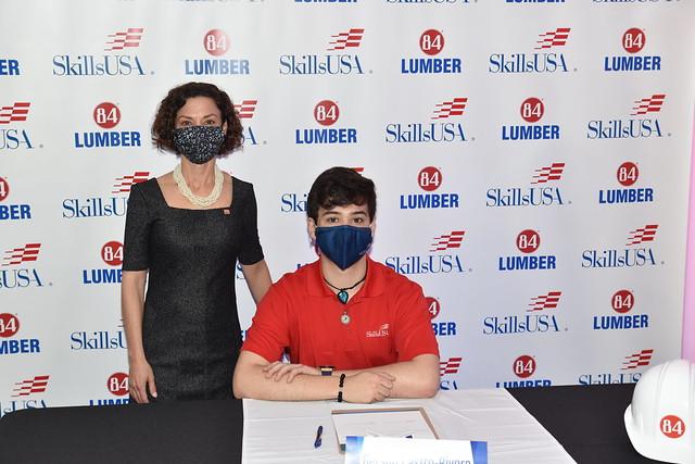 2021 SkillsUSA Signing Day at 84 Lumber