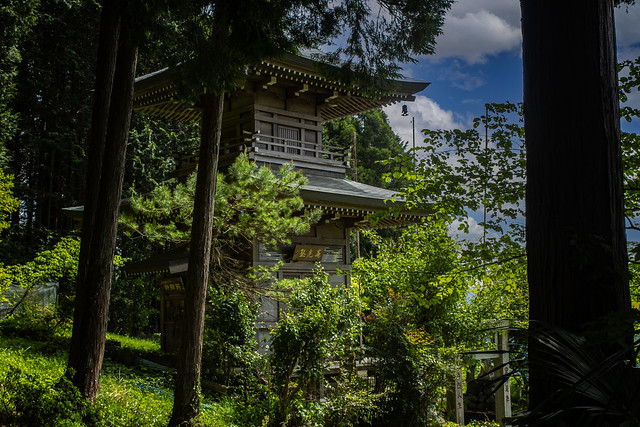 A Small Mountain Pagoda In Agano, Japan