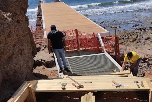 Estado de los trabajos de rehabilitación del Muelle Viejo de Arinaga