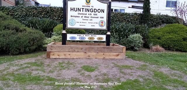Raised flowerbed (Reducded) on Huntingdon Ring Road 1st May 2021