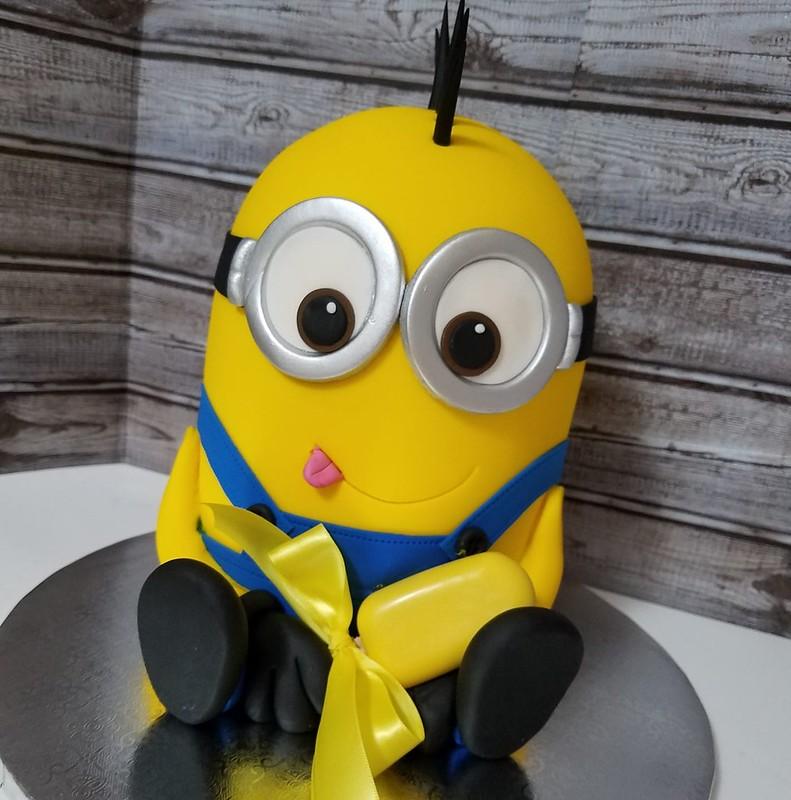 Minion Cake by Valentina's Sweet Cakes