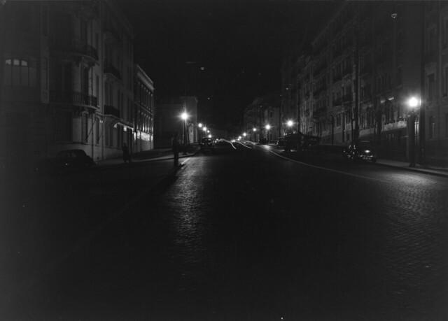 Vista nocturna. Lisboa, Portugal
