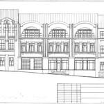 Грушевского Михаила улица, 4А - Эскиз фасада 003 PAPER800 [Вандюк Е.Ф.]