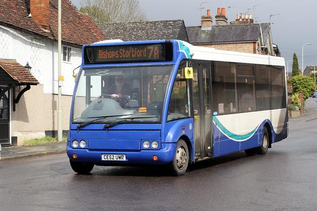 Trustybus / Galleon Travel ( 2009 ) Ltd . Roydon , Essex . CE52UWR . Hockerill , Bishop's Stortford , Hertfordshire . Tuesday 04th-May-2021 .