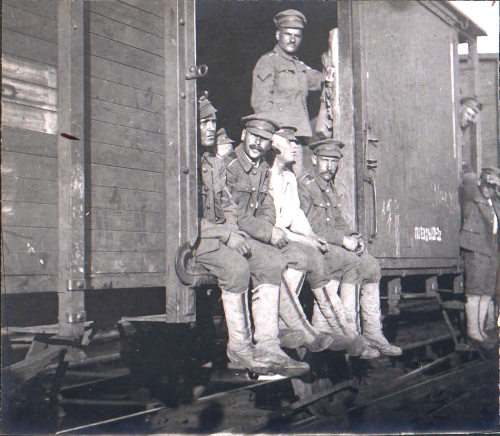 292. 1919. Чины Корниловского Ударного полка, поход на Москву,