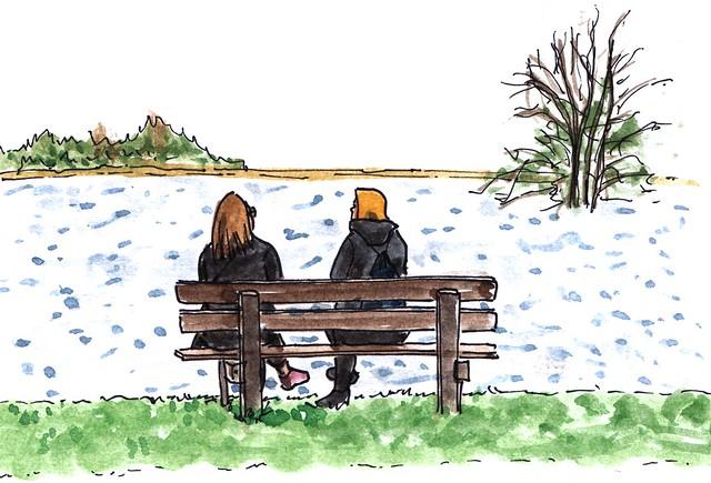Zondagmiddag aan de plas / Sunday afternoon at the pond