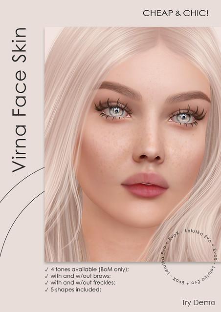 NEW! Virna face skin [Lelutka Evolution + EvoX]