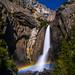 Lower Yosemite Falls Moonbow! Yosemite National Park Spring Waterfalls 45EPIC Elliot McGucken Fuji GFX100 Fine Art Landscape Nature Photography! Master Medium Format Fine Art! Fujifilm GFX 100 & Fujifilm FUJINON Lens FUJIFILM GF 45-100mm f/4 R LM WR!
