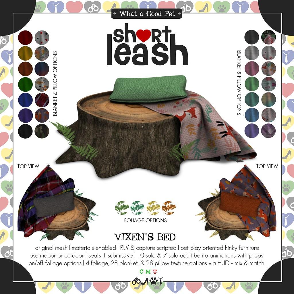 .:Short Leash:. Vixen's Bed