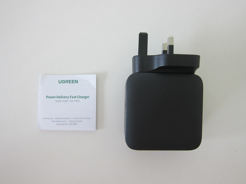 Ugreen 65W GaN Triple USB-C Plus USB-A Charger - Box Contents