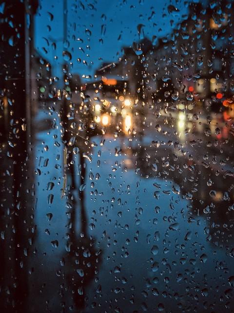 Here comes the rain again ...