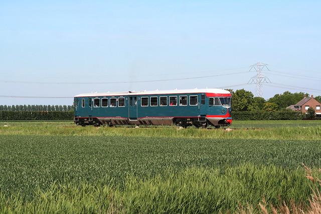 2009-05-23; 0076. NSM 41 als trein 74. Sporen naar het Verleden. 's-Gravenpoldersestraat, Hoedekenskerke.