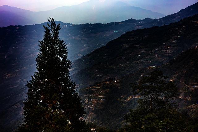 Dusk on mountain