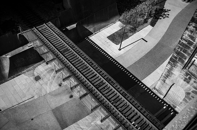 Rail Bridge Disguised as a 35 mm Film Strip