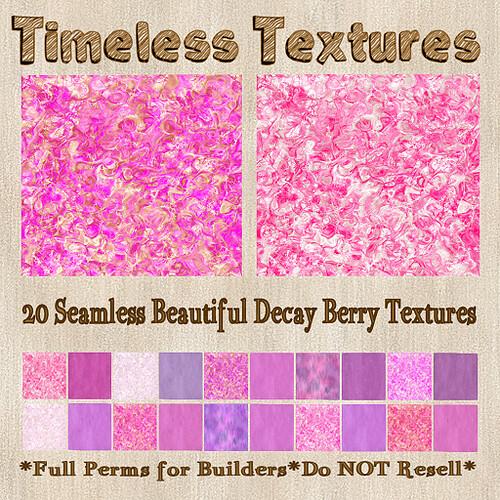 TT 20 Seamless Beautiful Decay Berry Timeless Textures