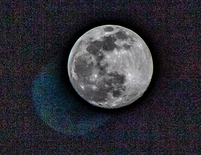 Moon taken with Shaky Hands