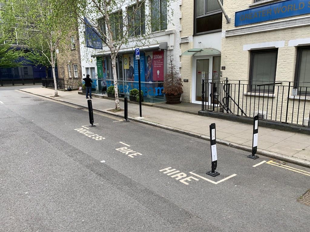 Dockless bike hire parking