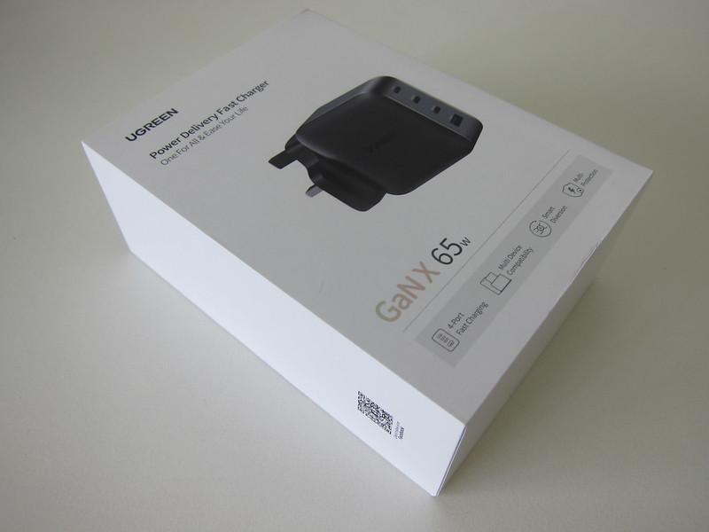Ugreen 65W GaN Triple USB-C Plus USB-A Charger - Box