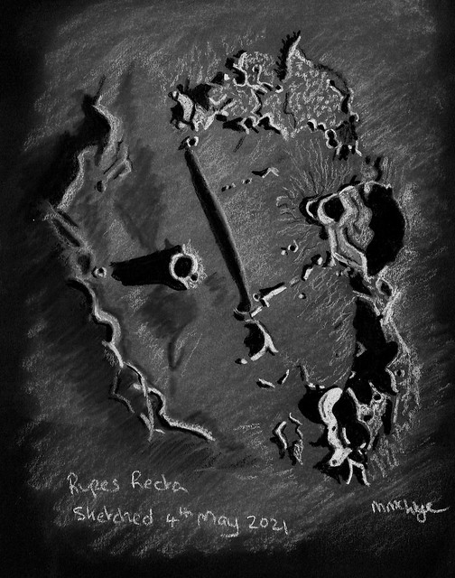 Rupes Recta (The Straight Wall) Pastel Sketch 04/05/21