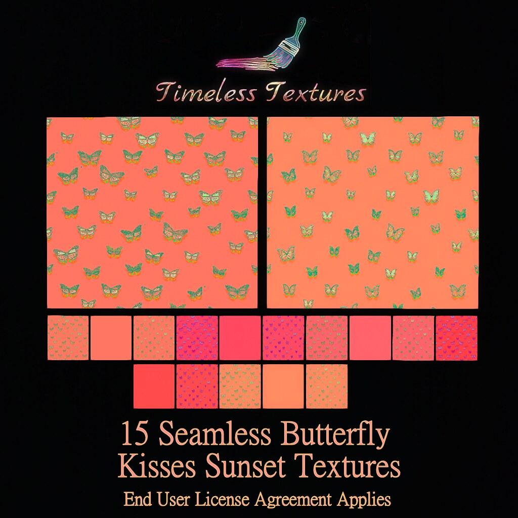 TT 15 Seamless Butterfly Kisses Sunset Timeless Textures