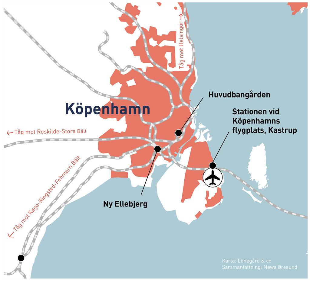 Kartgrafik förslag i den danska infrastrukturplanen 20210505